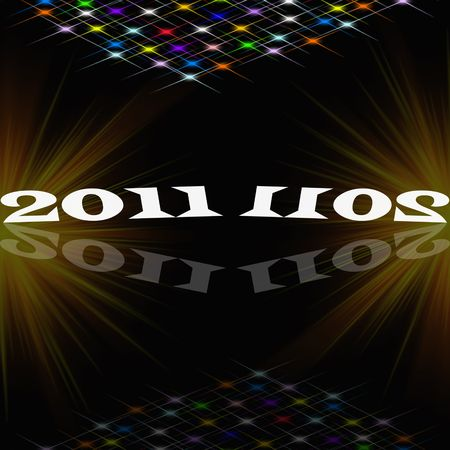Beautiful abstract background of 2011 photo