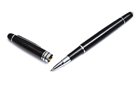 ball point: Black Ball Point Pen Isolated On White background  Stock Photo