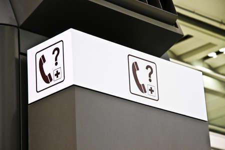 Closeup Information signs in Hong Kong airport Stock Photo - 8317357