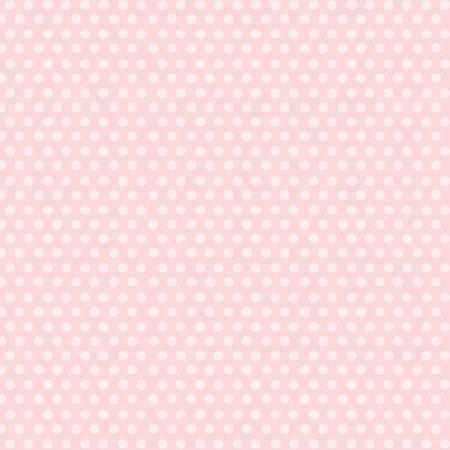 Piękne Białe kropki na tle różowy.