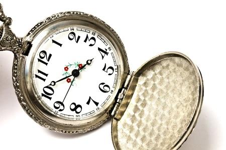 Vintage Pocket Watch isolated on white background  photo