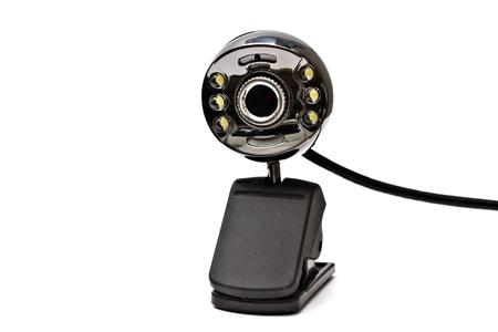 Digital webcam closeup on white background  photo