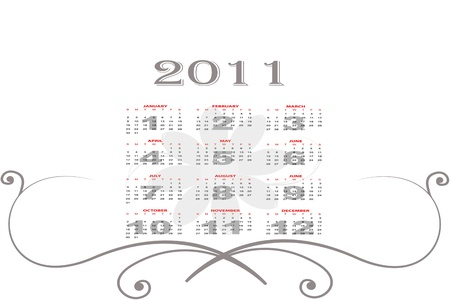 Abstract background of 2011 Calendar photo