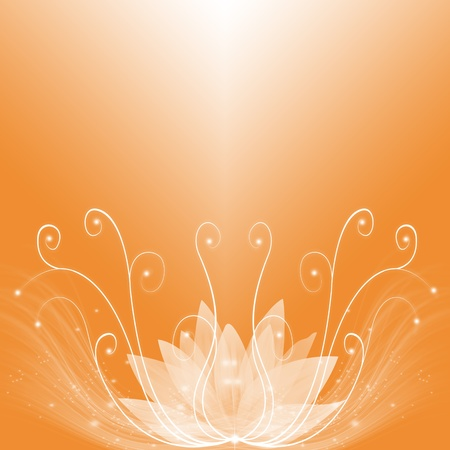lotus effect: Abstract background of golden dream