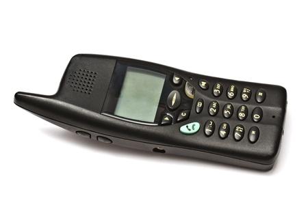 wireless telephone isolated on white background  photo