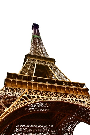 Eiffel Tower closeup. Paris, France. photo
