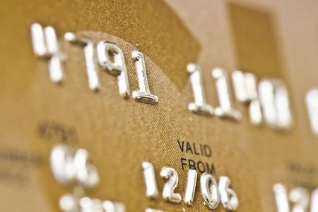 valid: Credit Card closeup