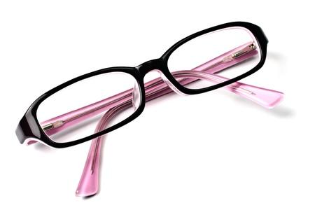 Beautiful glasses isolated on white background   photo