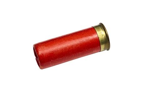 gun shell: bala de escopeta aislada sobre fondo blanco