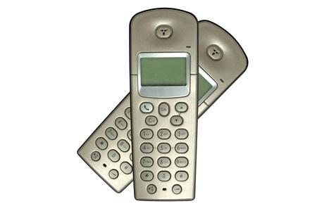 Cordless phone isolated on white background  photo