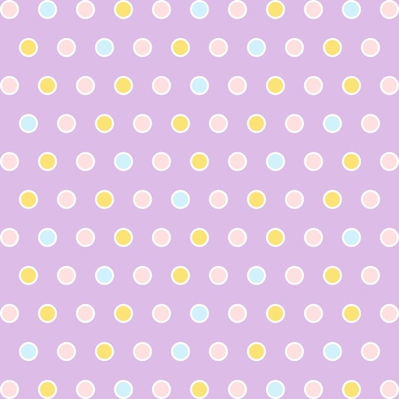 Seamless pattern of colorful polka dots background photo
