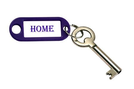 Home key isolated on white photo