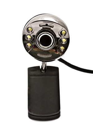 Digital webcam closeup on white background Stock Photo - 9482373