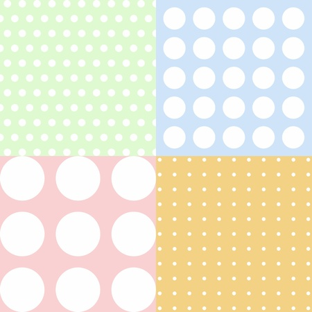 Background of different kinds of polka dots pattern photo