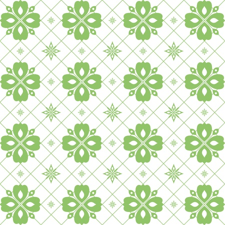 Abstract background of seamless floral pattern Stock Vector - 9580811