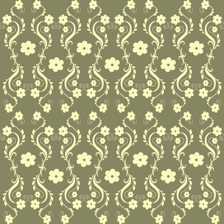 Abstract background of beautiful seamless floral pattern photo