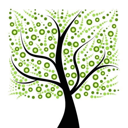 Beautiful art tree isolated on white background Stock Vector - 9678976