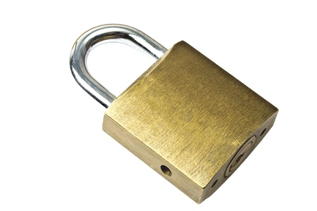 Padlock isolated on white background Stock Photo - 9813025