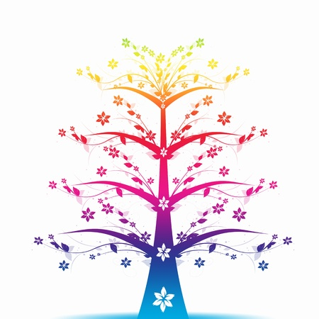 Abstract art tree - Living Forever Vector