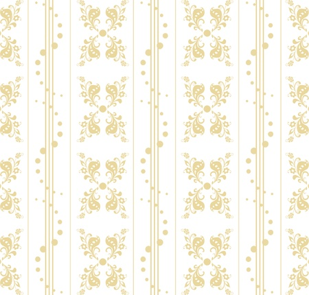 Beautiful seamless floral pattern with polka dots Stock Vector - 9813161