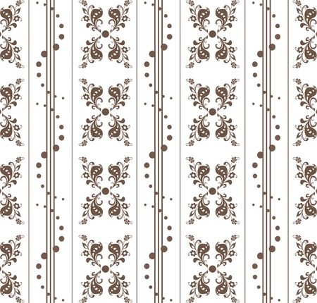 Beautiful seamless floral pattern with polka dots Stock Vector - 9813163