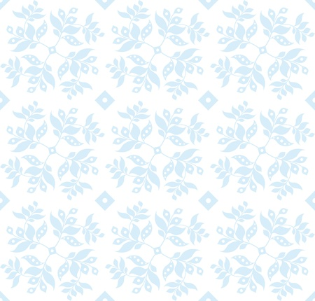 Beautiful seamless floral pattern with polka dots Vector