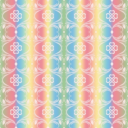 Abstract background of colorful seamless floral pattern Vector