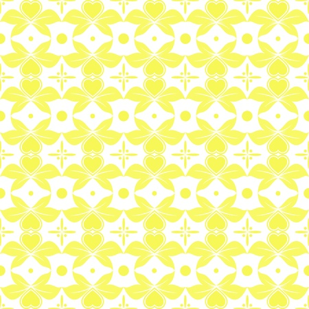 Beautiful seamless pattern of floral and dots Vector