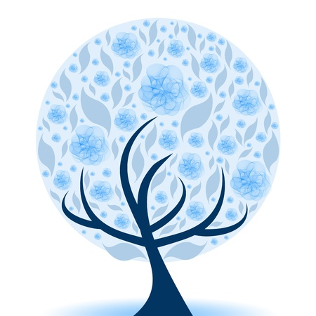Beautiful art tree isolated on white background  Stock Vector - 9813332