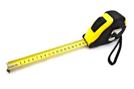 Tape measure isolated on white background   photo