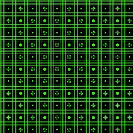 Beautiful seamless pattern of polka dots and checkered Vector