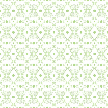 flourishing: Background of seamless floral and polka dots pattern