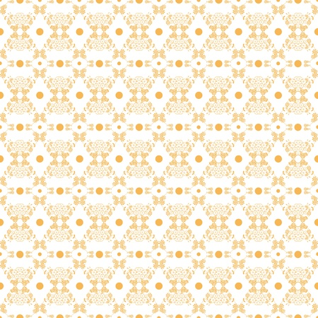 Background of seamless floral and polka dots pattern Vector