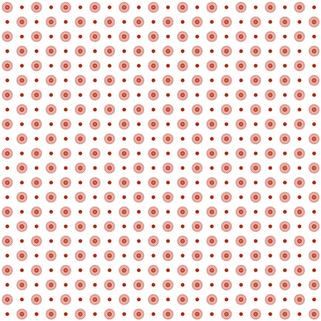polka dot dress: Background of seamless floral and dots pattern Illustration