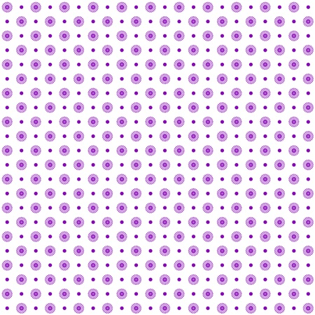 purple dress: Background of seamless floral and dots pattern Illustration
