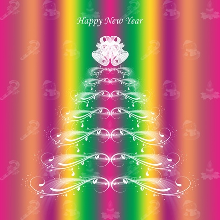 Colorful background of Happy New Year greeting card   Vector