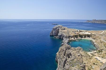 Beautiful landscape of blue and calm Aegean Sea   photo