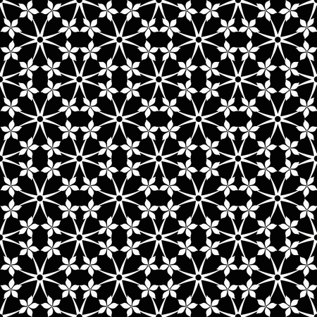 classic contrast: Abstract background of seamless floral and dots pattern