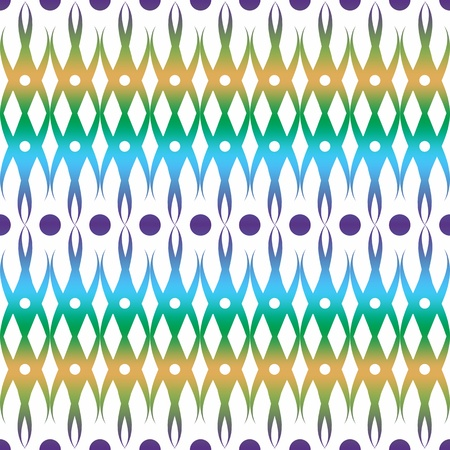 Abstract background of colorful seamless floral and dots pattern  Vector