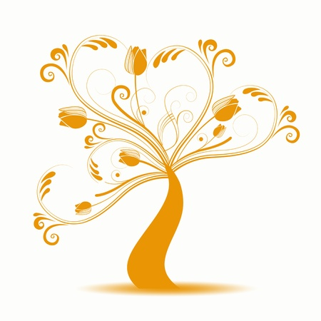 Beautiful abstract art tree on white background Stock Vector - 10090000