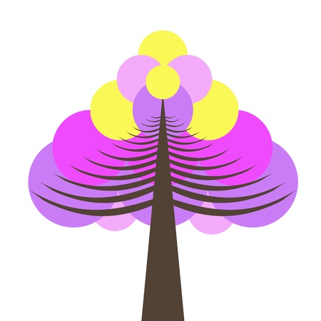 Beautiful  and colorful tree isolated on white background Stock Vector - 10182445
