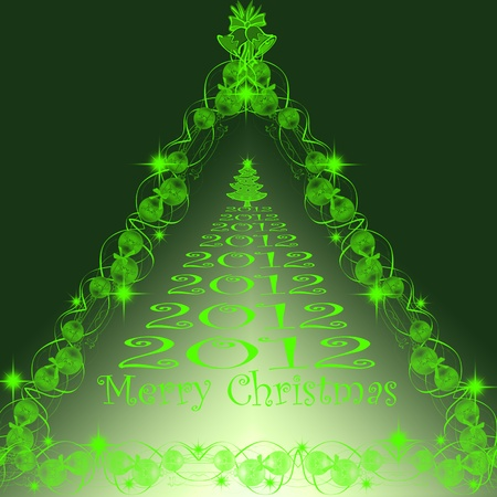 Beautiful background of merry christmas 2012 Stock Vector - 10182560