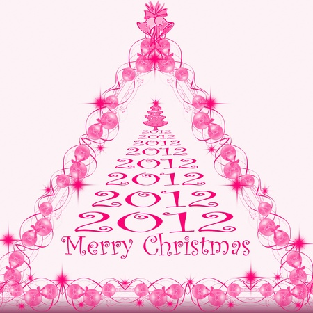 Beautiful background of merry christmas 2012 Stock Vector - 10182563