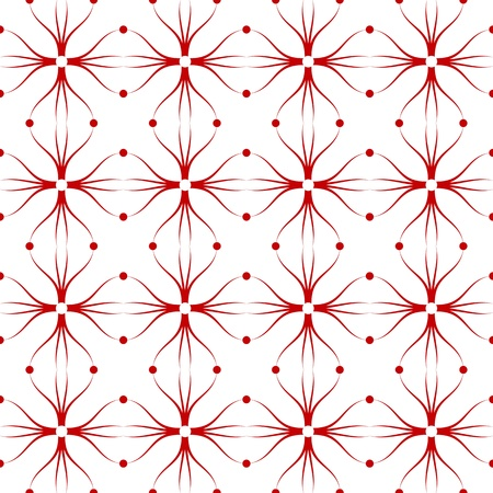 Beautiful seamless background of floral and dots pattern Stock Vector - 10182583