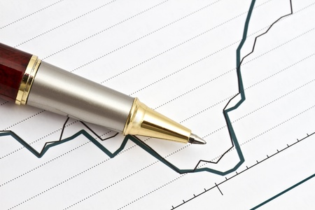Background of business graph Stock Photo - 10315296