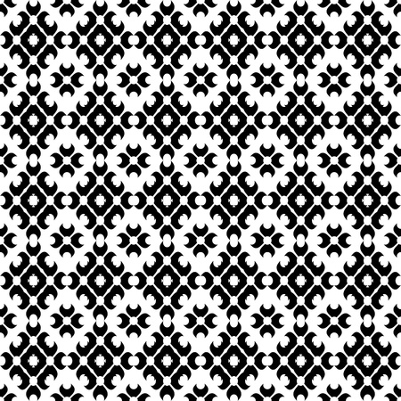 contrast floral: Abstract background of beautiful seamless floral pattern