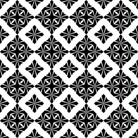 classic contrast: Abstract background of beautiful seamless floral pattern