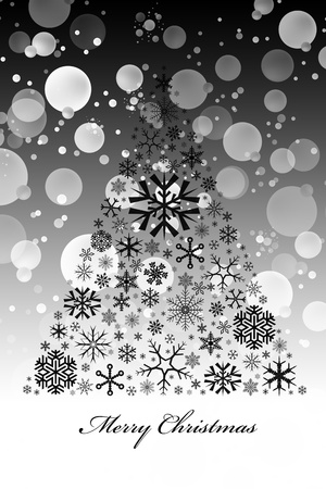 Beautiful christmas decoration of abstract  snowflakes tree Vector