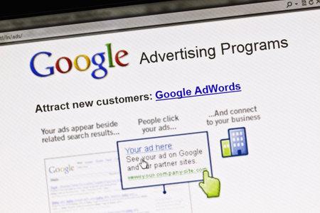 Close up of Googles Advertising Program