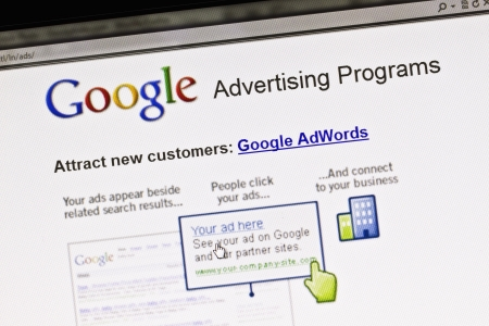 adwords: Close up of Googles Advertising Program